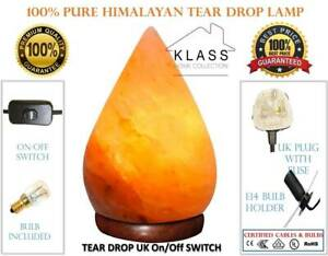 100% Himalayan Natural Pink Rock Crystal Salt Night Desk Lamp Glow Cable & Bulb