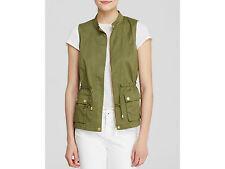 Bagatelle Vest Army Green Twill Blouson Full Zip Women' Size Small NWT $85