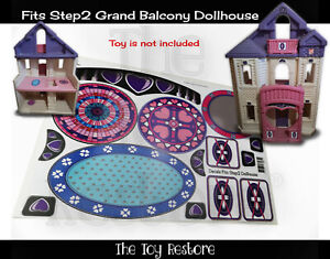 The Toy Restore Replacement Stickers fits Step2 Grand Balcony Dollhouse House
