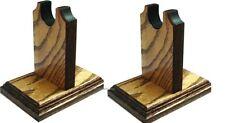 Oak Sword Stand - Knife Rack Display with Fancy Base