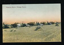 Canada PORTAGE Plains Farming Reaping social history PPC used c1900s