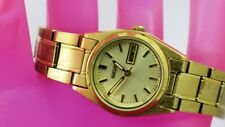 K18: SEIKO Analog Watch for Women from USA-Gold Tone