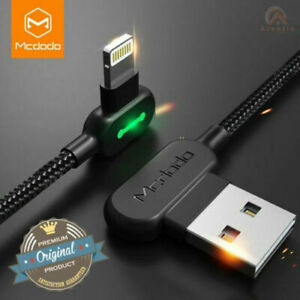 MCDODO USB LED Right Angle Game Cable Sync Chaging Cord For iPhone 12/XS/X/8/7/6