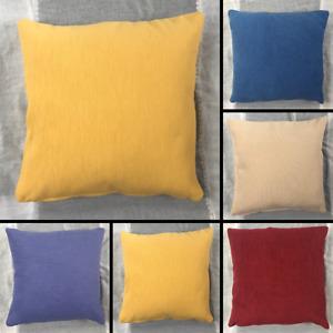 Premium Plain Chenille Cushion Cover Handmade Pillow Case Sofa Bed Home Decor
