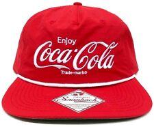 COCA COLA SNAPBACK HAT CAP CLASSIC ENJOY COKE ADJUSTABLE SCRIPT LOGO FLAT BILL