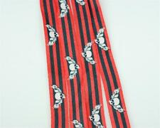 "Fashion Shoe Laces - Winged Skull on Black Red 38"" 189 Shoelaces"