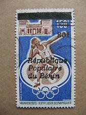 BENIN, used stamp 1987, overprinted stamp Dahomey, Michel No L 462, Olympics