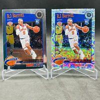 (2)RJ Barrett NBA Hoops Premium Stock Rookie Card Silver Scope Prizm Tribute Lot