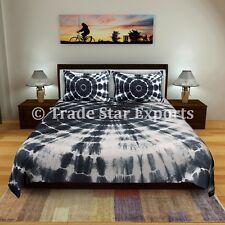 Indian Shibori Bedding Set With 2 Pillow Covers Tie Dye Bedspread Queen Bed Case
