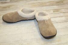 Sorel Nakiska Suede Clog Slippers, Women's Size 7, British Tan