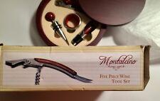 New Montalcion by LifeStyle 5 Piece Wine Tool Set New Mahogany