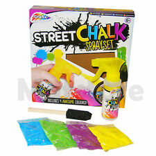 Enfants Grafix Rue Chalk Spray Paint. La chaussée Graffiti Outdoor Art Set 13-0580