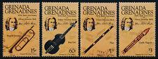 Grenada Grenadines 699-702 MNH Johann Sebastian Bach, Musical Instruments