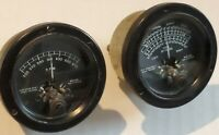 2 Vintage Wacline Airplane Meter's Instruments Roll & R.P.M. - Cessna?