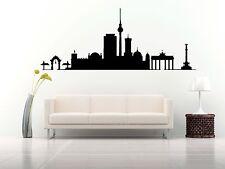 Wall Vinyl Sticker Decal Skyline Horizon Panorama City Berlin Germany F1874