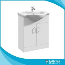 650mm Gloss White Bathroom Furniture Vanity Unit Basin Sink Cabinet