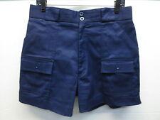 "EUC Vintage 1970s Duofold Sport Blue Poly Cotton Lycra 4"" Tennis Shorts Size 34"