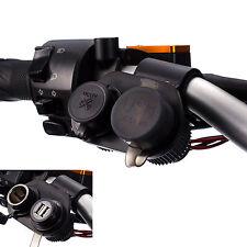 Motocicleta Doble Duro Usb Cable Cargador + Encendedor de cigarrillos Mount Holder
