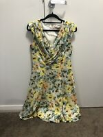 Review Size 8 Yellow Floral A-Line Fit & Flare Dress