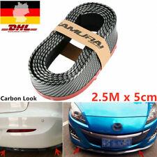 Front Spoiler Lippe Seiten Schweller universal flexibel 2,5mx5cm Carbon schwarz