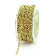 May Arts 6mm Metallic Chain Ribbon - 2m Gold 348-14-30