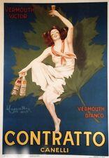 """""""CONTRATTO"""" Affiche entoilée typo vers 1960  73x102cm    d'après CAPPIELLO"""