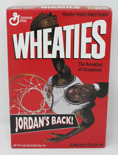 "Michael Jordan 1995 Wheaties ""Jordan's Back"" Limited Edition Sealed Unopened Box"