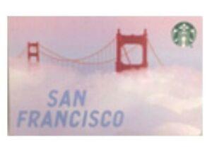 "STARBUCKS GIFT CARD 2020 "" SAN FRANCISCO 🌉 "" VHTF~ RARE~NO VALUE~A BEAUTY 🔥"