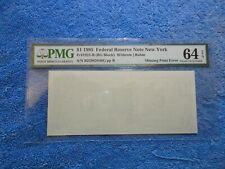 Missing First (Back) Printing, Pmg Cu 64 Epq, 1995 $1 New York Frn, Trophy Note!