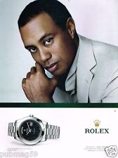 Publicité advertising 2012 La Montre Rolex Oyster Perpetual avec Tiger Woods