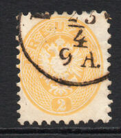 Austria Early 2Kr Stamp  Used c1863-64 (757)