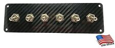 Carbon Fiber 6 Toggle Switch Panel
