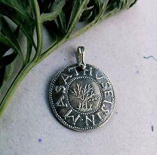 Pendant1692 Salem Witch Trial Oak Tree Silver Shilling Massachusetts New England