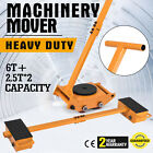 VEVOR Machinery Mover Multi Species Steel Machine Skate Dolly Mover 6 Ton-18 Ton