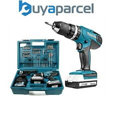 Makita HP457DWE 18 V Lithium Combi Marteau Perforateur-Comprend 74 Tournevis Bit...