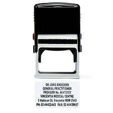 Personalised Self Inking Rubber Stamp Custom Business Name Address MAX 6 lines