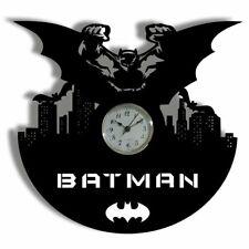 choma Batman and Catwoman LED Lighting Wall Clock Vinyl Record Nightlight Clock Gift Art Decor