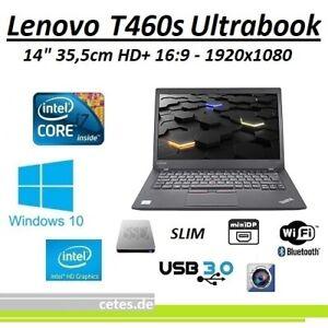 """Lenovo T460s Ultrabook 14"""" Core i7 2,6Ghz, 12GB, 240GB SSD, HD+, USB3, WAN, Win1"""