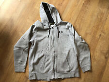 Mens Zip Up Under Armour Grey Hoodie - Size XL