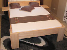 Massivholz Bett 160x200 Fuß I Doppelbett massiv Gästebett Jugendbett Buche