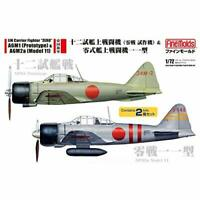 FineMolds 1/72 IJN Fighter ZERO A6M1 Prototype & A6M2a Model 11 Kit w/ Tracking
