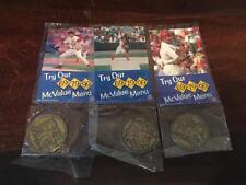 2001 McDonalds 3/3 Coins & Cardinals Baseball Cards~PUJOLS~MATHENY~KILE
