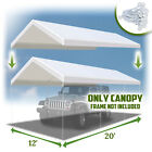20'x12' Carport Replacement Canopy Tent Garage Top Tarp  Cover ONLY with Bungees