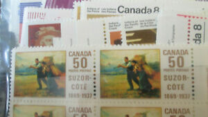 Canada Discount Postage 5c and up MNH in Blocks, MNH Face $140