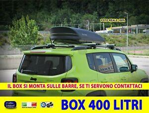 Box Baule Portatutto Lancia Musa da tetto per auto nero 400 l portapacchi kit