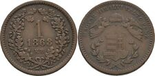 Krajcar 1868 Austria Ungarn Kremnitz Franz Joseph, 1848-1916, Engel #FTC150