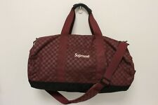 RARE SUPREME FW11 RED CHECKERED DAMIER CORDURA FABRIC DUFFEL BAG - USED