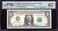 2003-A $1 Federal Reserve Note Fancy REPEATER Serial #F75667566H PMG 67EPQ