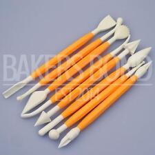 8 Piece / 16 Tool Yellow Fondant Modelling Tool Set Cake Baking Shaper Cutter