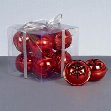 Décorations de sapin de Noël flocons de neige rouge
